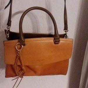 Tiganello Terracotta Satchel/ Crossbody Leather Ba